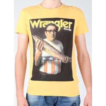 Υφασμάτινα Άνδρας T-shirt με κοντά μανίκια Wrangler T-shirt  S/S Graphic T W7931EFNG yellow