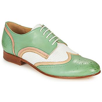 Παπούτσια Γυναίκα Derby Melvin & Hamilton SALLY 15 Green / Άσπρο / Beige