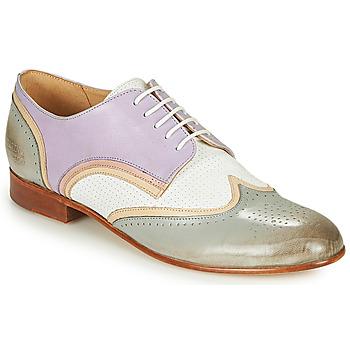 Παπούτσια Γυναίκα Derby Melvin & Hamilton SALLY 15 Μπλέ / Άσπρο / Beige