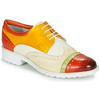 Παπούτσια Γυναίκα Derby Melvin & Hamilton AMELIE 85 Άσπρο / Yellow / Brown