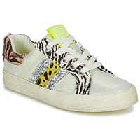 Παπούτσια Κορίτσι Χαμηλά Sneakers Gioseppo TIRRENIA Άσπρο / Yellow / Silver