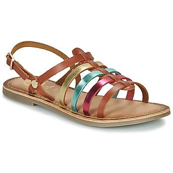 Παπούτσια Κορίτσι Σανδάλια / Πέδιλα Gioseppo ETALLE Cognac / Multicolore