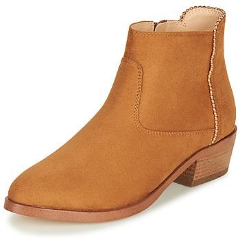 Παπούτσια Γυναίκα Μπότες André BELEN Camel