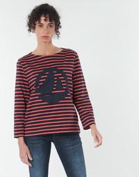Υφασμάτινα Γυναίκα Μπλούζες Petit Bateau  Red / Marine