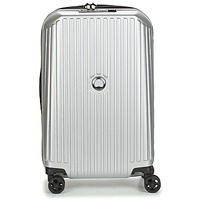 Τσάντες Valise Rigide Delsey SECURITME ZIP 55 CM 4 DOUBLE WHEELS TROLLEY Argenté