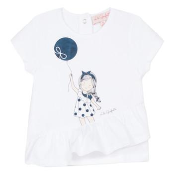 Υφασμάτινα Κορίτσι T-shirt με κοντά μανίκια Lili Gaufrette NALIOS Άσπρο