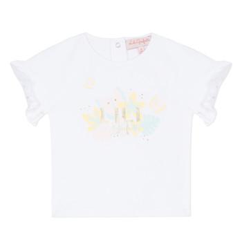 Υφασμάτινα Κορίτσι T-shirt με κοντά μανίκια Lili Gaufrette NALIS Άσπρο