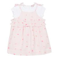 Υφασμάτινα Κορίτσι Κοντά Φορέματα Lili Gaufrette NAZETTE Ροζ