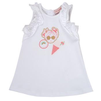 Υφασμάτινα Κορίτσι Κοντά Φορέματα Lili Gaufrette NAVETTE Άσπρο