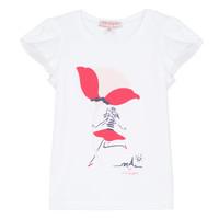 Υφασμάτινα Κορίτσι T-shirt με κοντά μανίκια Lili Gaufrette KATINE Άσπρο