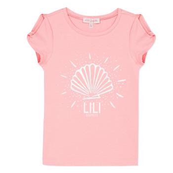 Υφασμάτινα Κορίτσι T-shirt με κοντά μανίκια Lili Gaufrette KATIA Blush