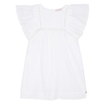 Υφασμάτινα Κορίτσι Κοντά Φορέματα Lili Gaufrette MELINA Άσπρο