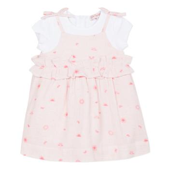Υφασμάτινα Κορίτσι Κοντά Φορέματα Lili Gaufrette SAMANTA Ροζ