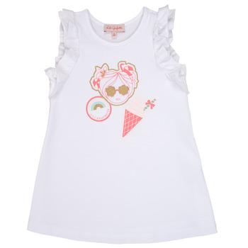 Υφασμάτινα Κορίτσι Κοντά Φορέματα Lili Gaufrette SAMI Άσπρο