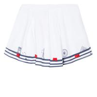 Υφασμάτινα Κορίτσι Φούστες Lili Gaufrette MAYA Άσπρο
