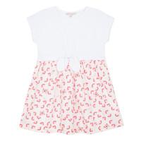 Υφασμάτινα Κορίτσι Κοντά Φορέματα Lili Gaufrette CAYDEN Άσπρο