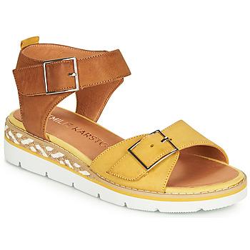 Παπούτσια Γυναίκα Σανδάλια / Πέδιλα Karston KICHOU Yellow / Brown