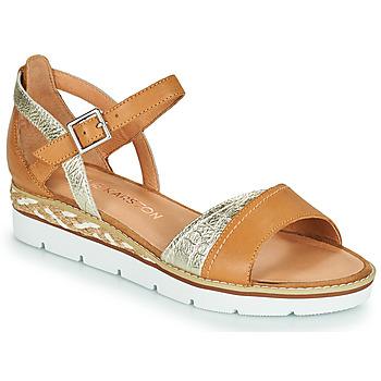 Παπούτσια Γυναίκα Σανδάλια / Πέδιλα Karston KILGUM Brown / Silver