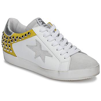 Παπούτσια Γυναίκα Χαμηλά Sneakers Meline GELLABELLE Άσπρο / Moutarde