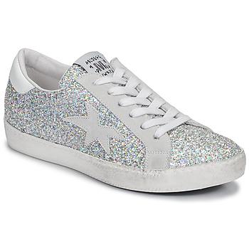 Παπούτσια Γυναίκα Χαμηλά Sneakers Meline GARAMINE Άσπρο / Argenté