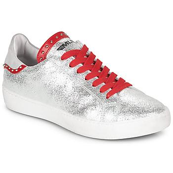 Παπούτσια Γυναίκα Χαμηλά Sneakers Meline GARILOU Silver / Red