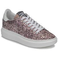 Παπούτσια Γυναίκα Χαμηλά Sneakers Meline GEYSI Glitter / Ροζ