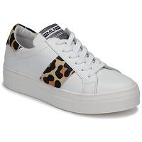 Παπούτσια Γυναίκα Χαμηλά Sneakers Meline GETSET Άσπρο / Leopard