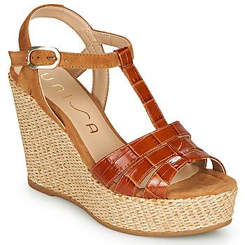 Παπούτσια Γυναίκα Σανδάλια / Πέδιλα Unisa MACA Camel