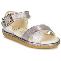 Παπούτσια Κορίτσι Σανδάλια / Πέδιλα Clarks SKYLARK PURE T Silver / Ροζ