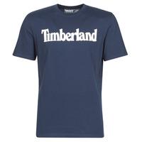 Υφασμάτινα Άνδρας T-shirt με κοντά μανίκια Timberland SS KENNEBEC RIVER BRAND LINEAR TEE Marine