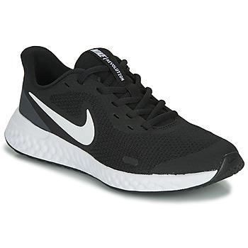 Παπούτσια Παιδί Χαμηλά Sneakers Nike REVOLUTION 5 GS Black / Άσπρο
