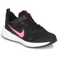 Παπούτσια Κορίτσι Multisport Nike REVOLUTION 5 PS Black / Ροζ