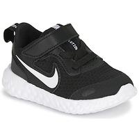 Παπούτσια Παιδί Χαμηλά Sneakers Nike REVOLUTION 5 TD Black / Άσπρο