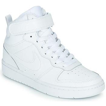 Ψηλά Sneakers Nike COURT BOROUGH MID 2 GS ΣΤΕΛΕΧΟΣ: Δέρμα και συνθετικό & ΕΠΕΝΔΥΣΗ: Ύφασμα & ΕΣ. ΣΟΛΑ: Ύφασμα & ΕΞ. ΣΟΛΑ: Καουτσούκ