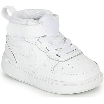 Παπούτσια Παιδί Χαμηλά Sneakers Nike COURT BOROUGH MID 2 TD Άσπρο
