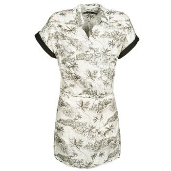 Υφασμάτινα Γυναίκα Κοντά Φορέματα Volcom VACAY ME SS DRESS Άσπρο