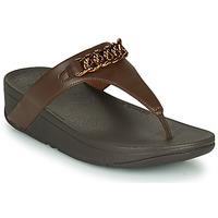 Παπούτσια Γυναίκα Σαγιονάρες FitFlop LOTTIE CHAIN TOE-THONGS Brown