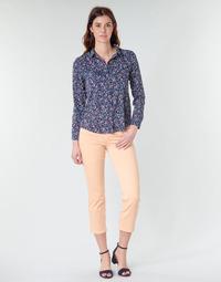 Υφασμάτινα Γυναίκα Παντελόνια Πεντάτσεπα Freeman T.Porter LOREEN NEW MAGIC COLOR κοραλί-ροζ