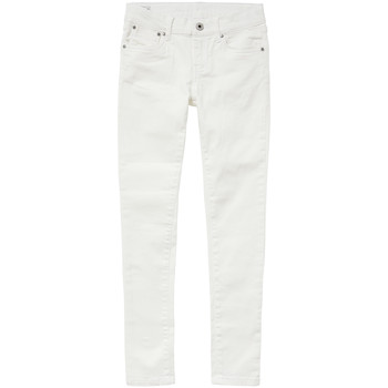 Υφασμάτινα Κορίτσι Skinny jeans Pepe jeans PIXLETTE Άσπρο