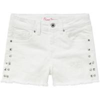Υφασμάτινα Κορίτσι Σόρτς / Βερμούδες Pepe jeans ELSY Άσπρο