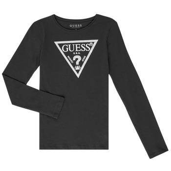 Υφασμάτινα Κορίτσι Μπλουζάκια με μακριά μανίκια Guess GARICE Black