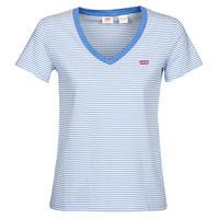 Υφασμάτινα Γυναίκα T-shirt με κοντά μανίκια Levi's PERFECT VNECK Άσπρο / Μπλέ