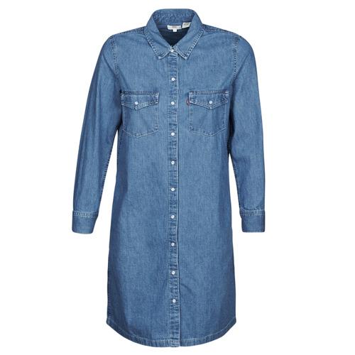 Υφασμάτινα Γυναίκα Κοντά Φορέματα Levi's SELMA DRESS Μπλέ