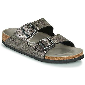 Παπούτσια Γυναίκα Τσόκαρα Birkenstock ARIZONA Black / Argenté