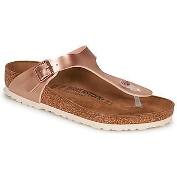 Παπούτσια Γυναίκα Σαγιονάρες Birkenstock GIZEH Ροζ / Gold