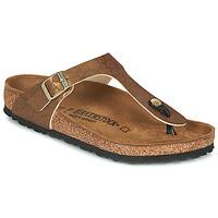 Παπούτσια Γυναίκα Σαγιονάρες Birkenstock GIZEH Gold / Leopard