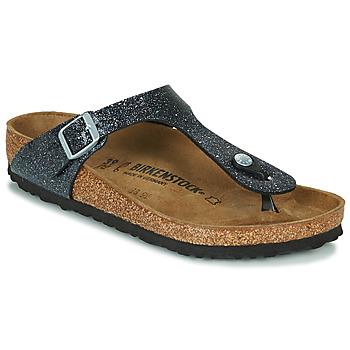 Παπούτσια Γυναίκα Σαγιονάρες Birkenstock GIZEH Black / Argenté