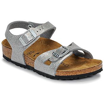 Παπούτσια Κορίτσι Σανδάλια / Πέδιλα Birkenstock RIO Glitter / Ασημι