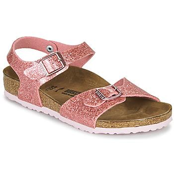 Παπούτσια Κορίτσι Σανδάλια / Πέδιλα Birkenstock RIO PLAIN Cosmic / Sparkle / Old / Ροζ