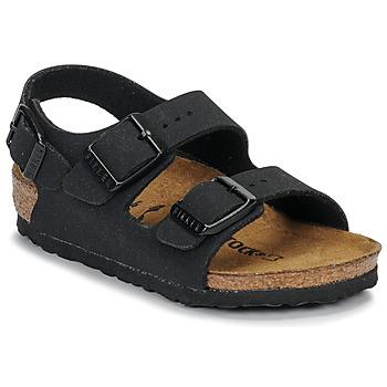 Παπούτσια Αγόρι Σανδάλια / Πέδιλα Birkenstock MILANO Nubuck / Μαυρο